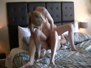 blonde funny blowjob